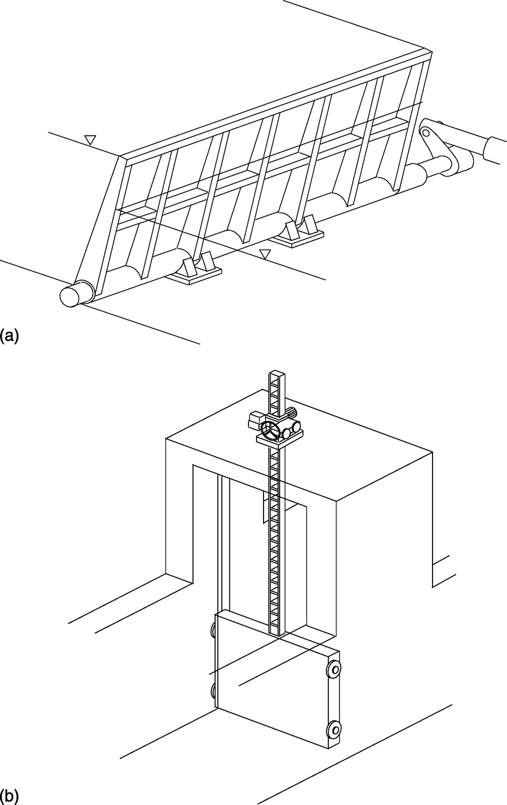 Experimental Study On Real Time Tsunami Protection Structures Buoyancy Diagram Generator Sketch Journal Of Waterway Port Coastal And Ocean Engineering Vol 140 No 3