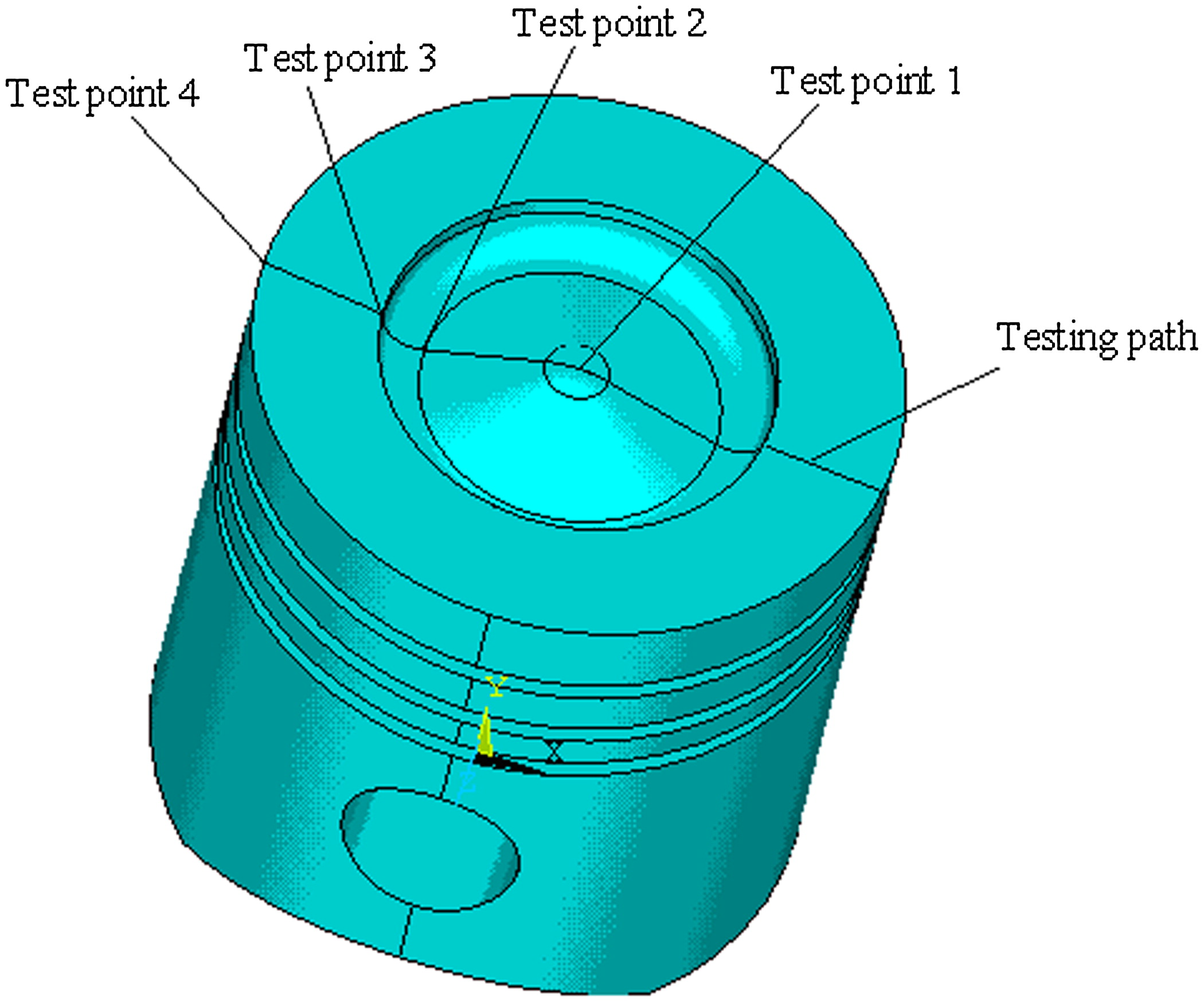 Thermal Stress Analysis Of Ceramic Coated Diesel Engine Pistons 350 Diagram Piston Based On The Wavelet Finite Element Method Journal Engineering Mechanics Vol 138