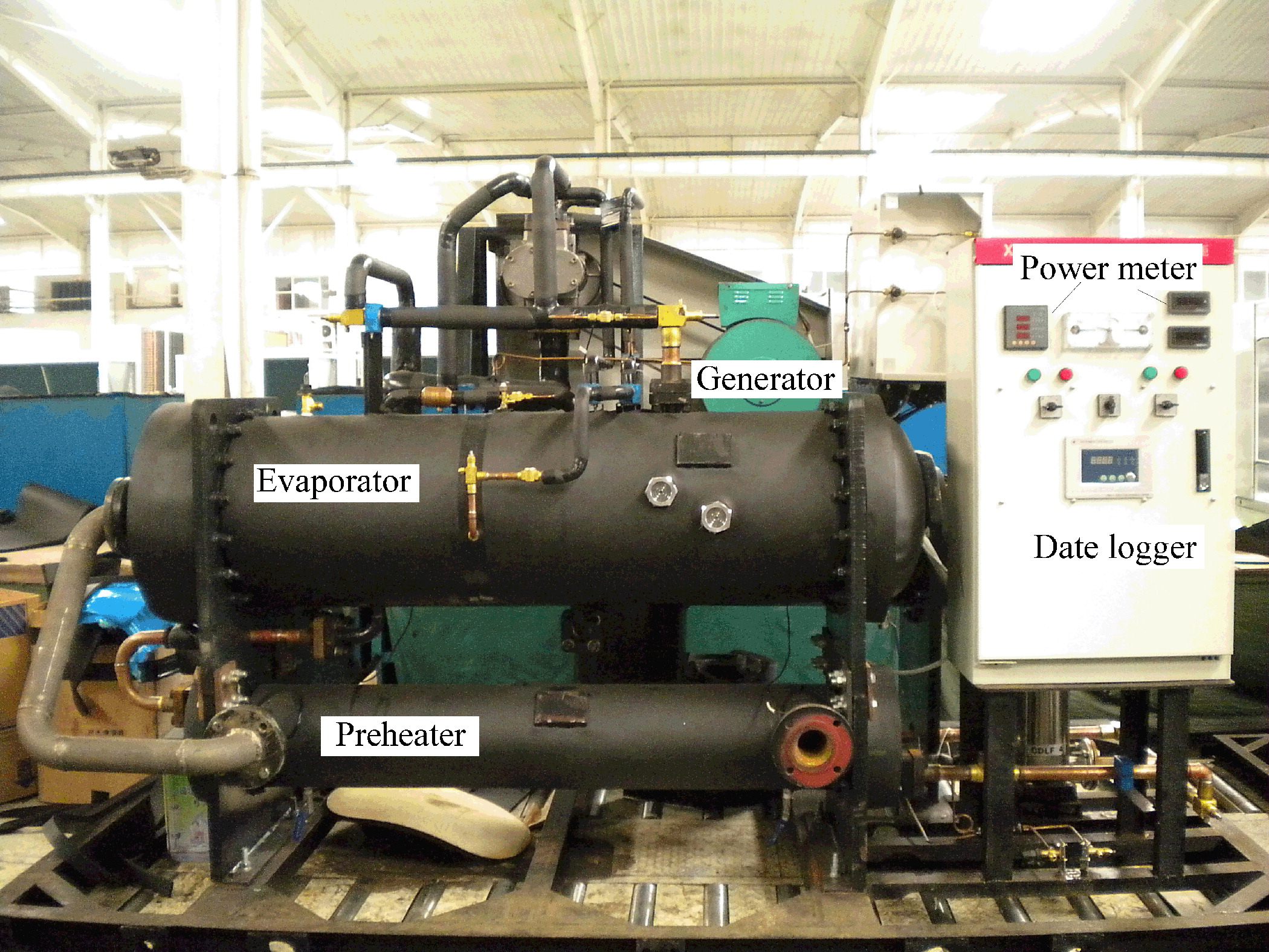 Experimental Study of a Low Temperature Power Generation System in