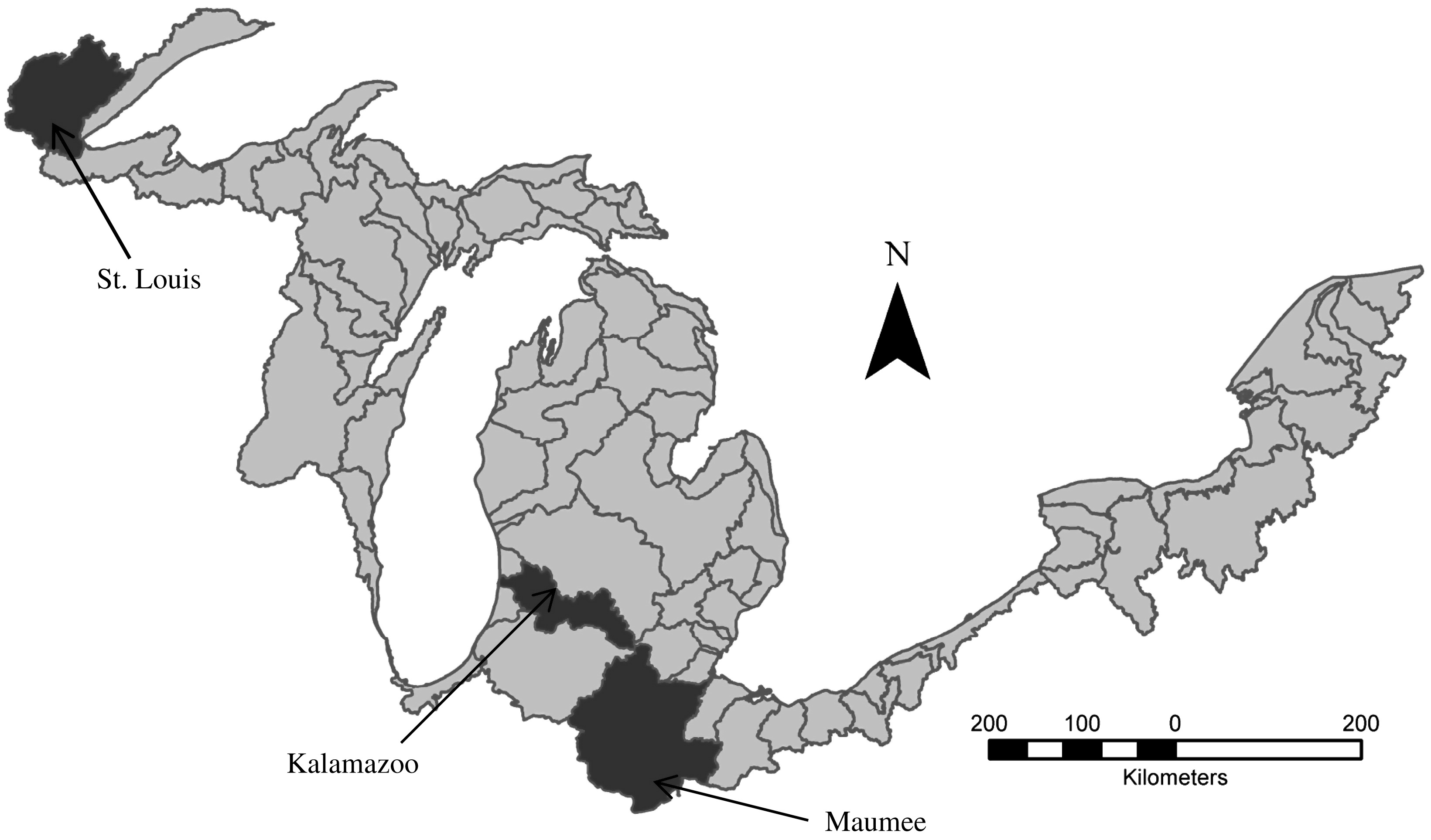 Continuous Hydrologic Modeling Of Snow Affected Watersheds In The Great Lakes Basin Using Hec Hms Journal Of Hydrologic Engineering Vol 18 No 1