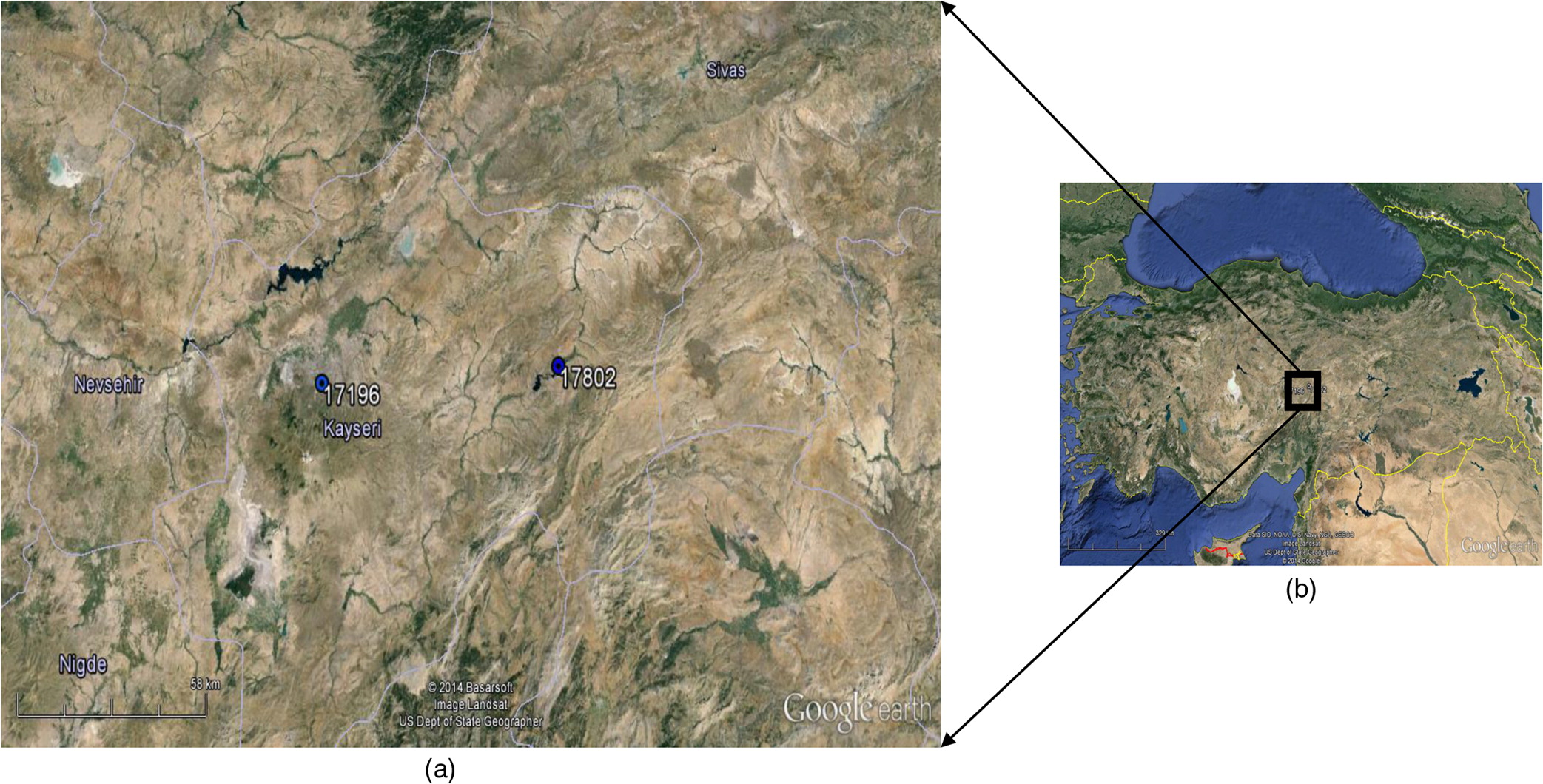 Kayseri Map%0A Comparison of Discrete and Continuous Wavelet u    Multilayer Perceptron Methods  for Daily Precipitation Prediction   Journal of Hydrologic Engineering    Vol