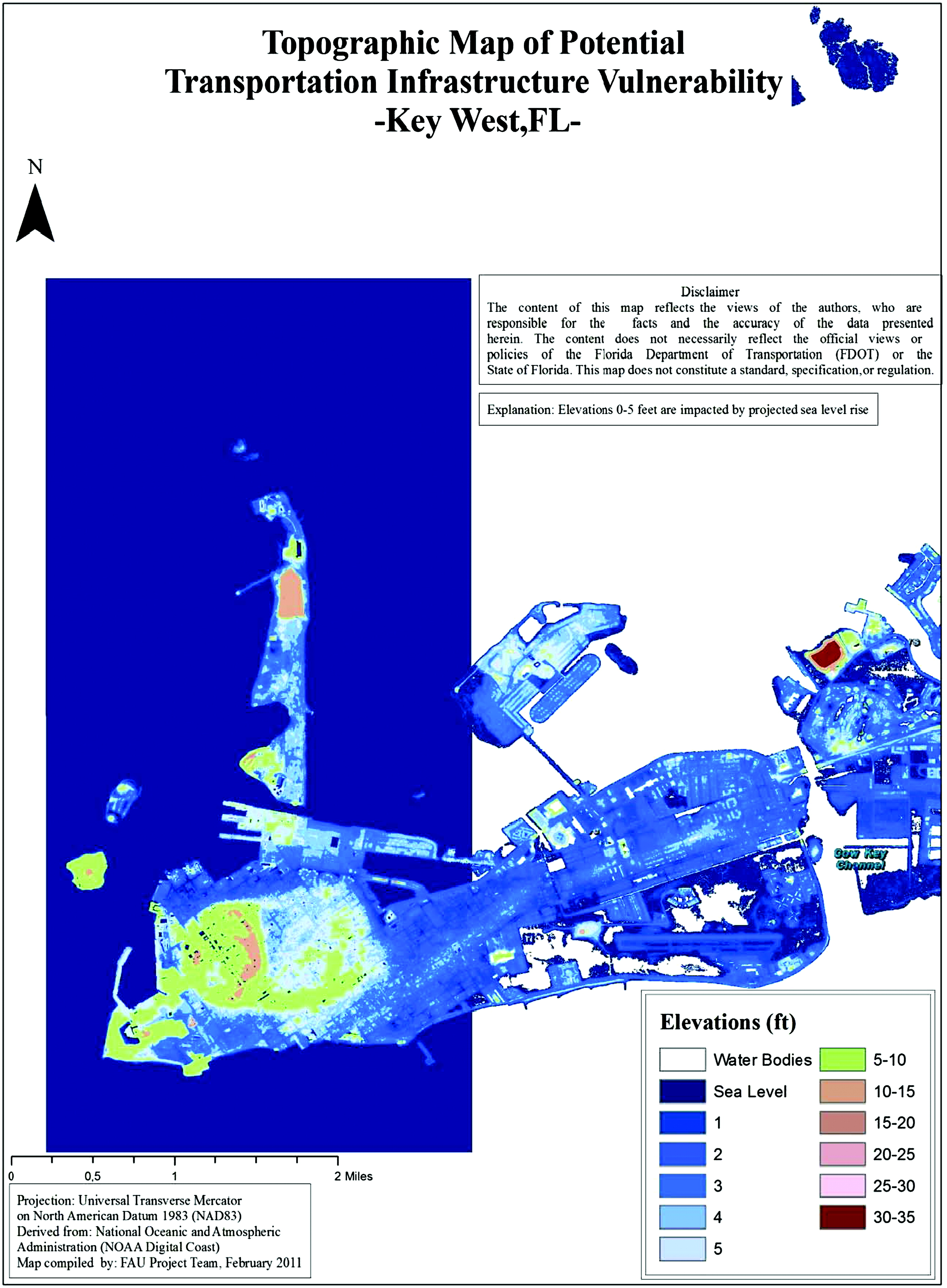 Identifying FDOTs Physical Transportation Infrastructure - Florida map sea level rise