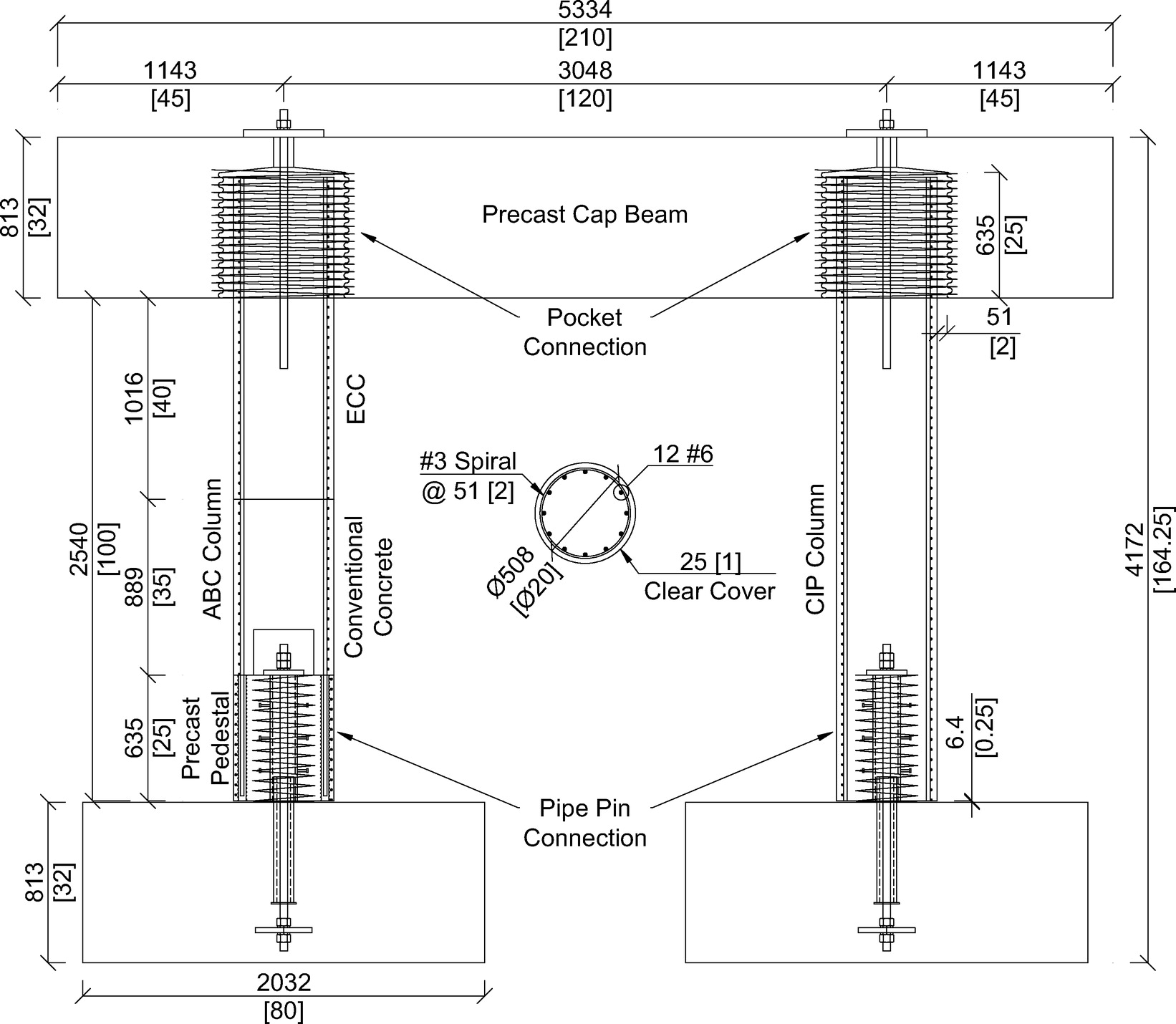 Cyclic Response Of Precast Bridge Piers With Novel Column Base Pipe Figure 2910 Simple Rc Circuit Pins And Pocket Cap Beam Connections Journal Engineering Vol 21 No 4