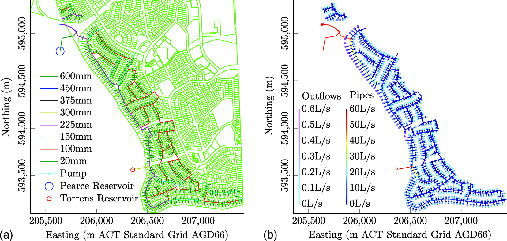 Maximum Entropy Analysis of Hydraulic Pipe Flow Networks
