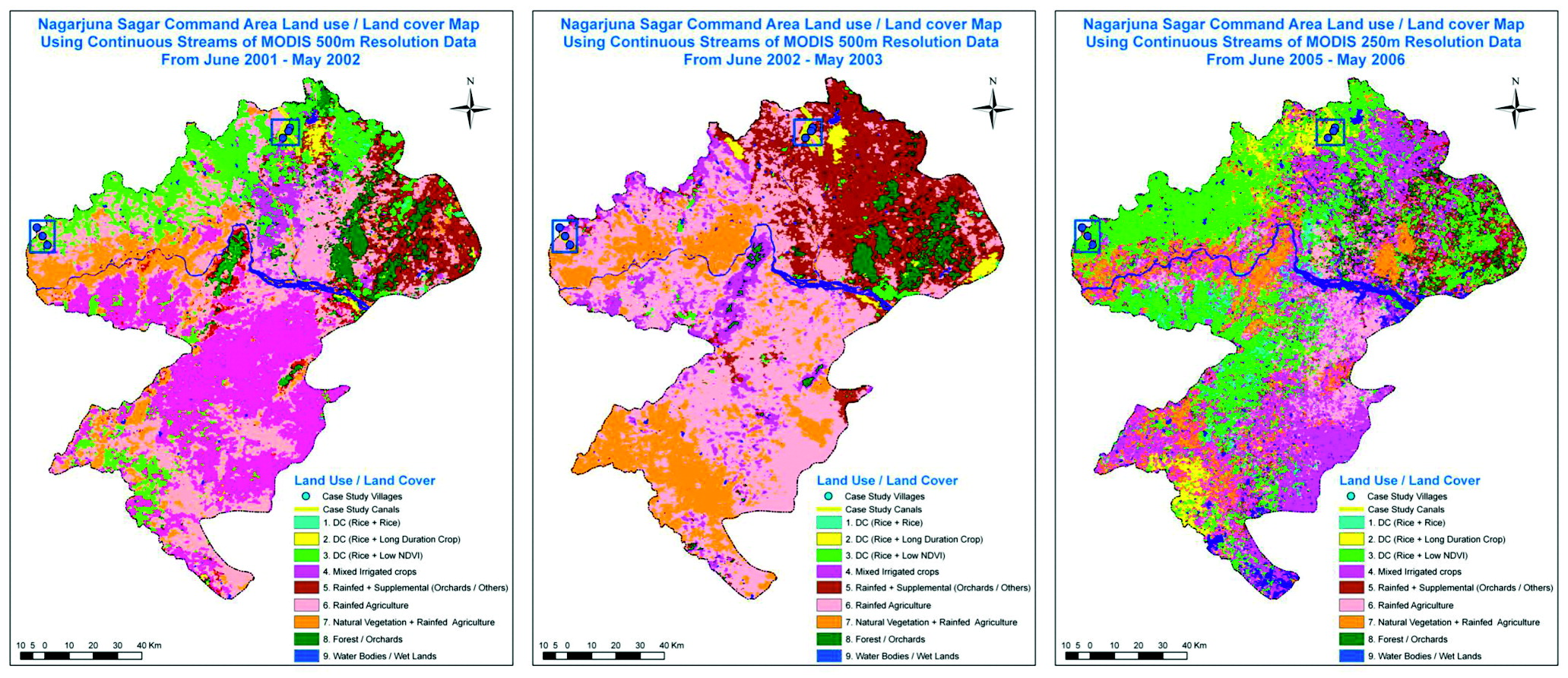 Farmers Adaptation and Regional LandUse Changes in Irrigation