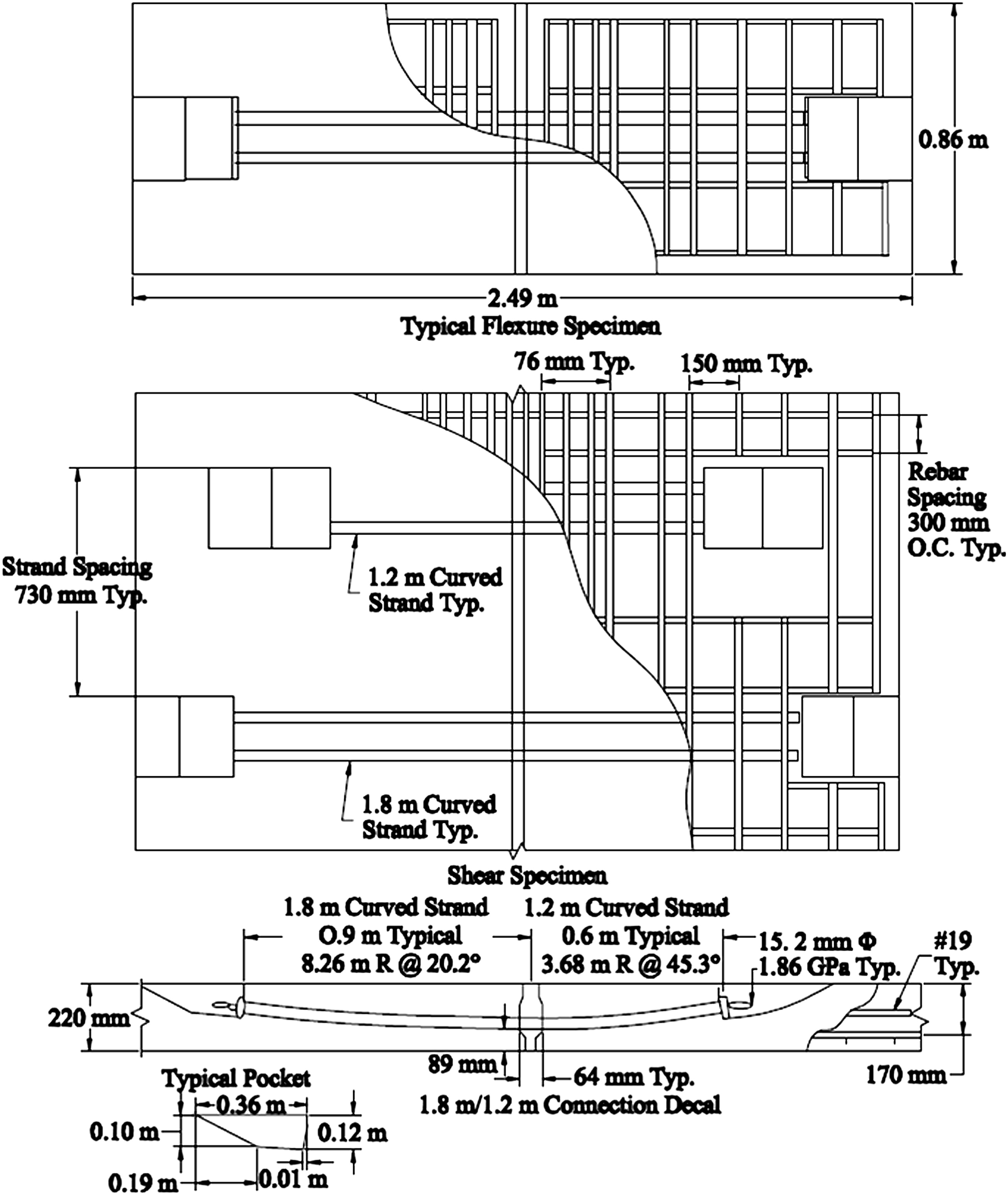 Performance Of Posttensioned Curved Strand Connections In Transverse Wiring Diagram 2007 Carryall 6 Joints Precast Deck Panels Journal Bridge Engineering Vol 18 No 10