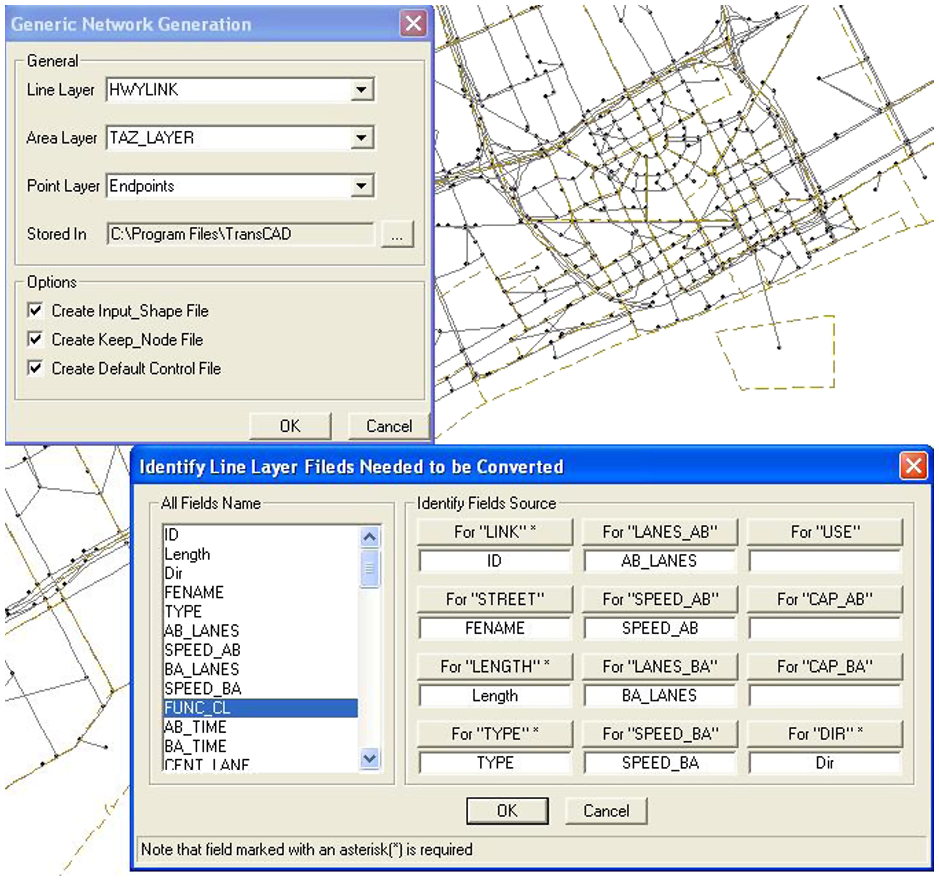 Integrating GIS and Microscopic Traffic Simulation to Analyze