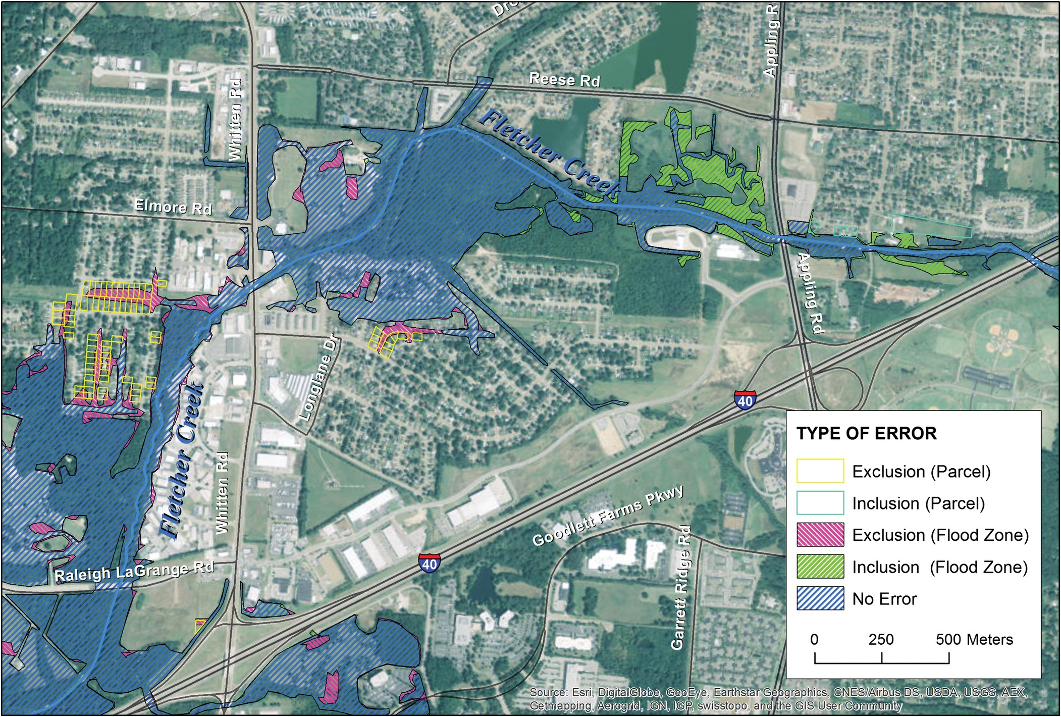 LITE Flood Simple GISBased Mapping Approach For RealTime - La flood zone map