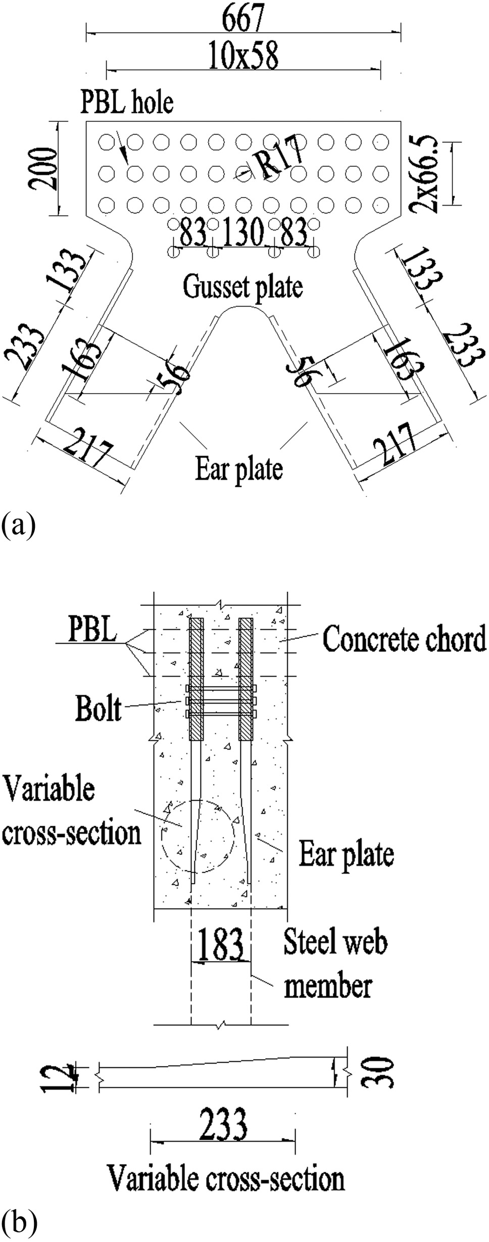 Connection Performance In Steelconcrete Composite Truss Bridge Diagram Elevation Save Structures Journal Of Engineering Vol 22 No 3