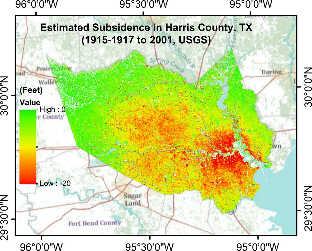 Current Land Subsidence And Groundwater Level Changes In The Houston