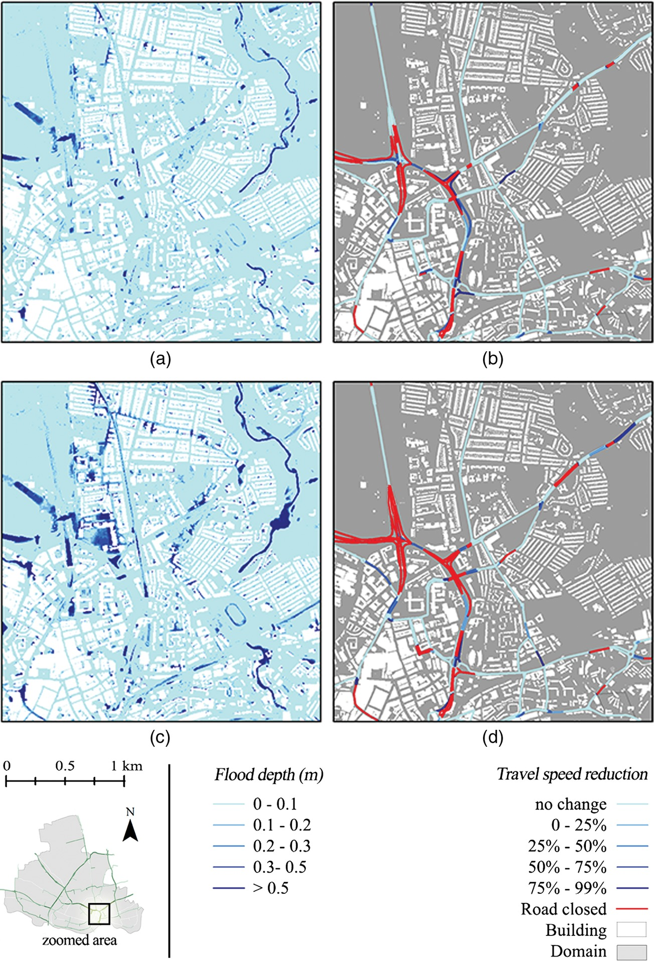 Impact of Climate Change on Disruption to Urban Transport Networks
