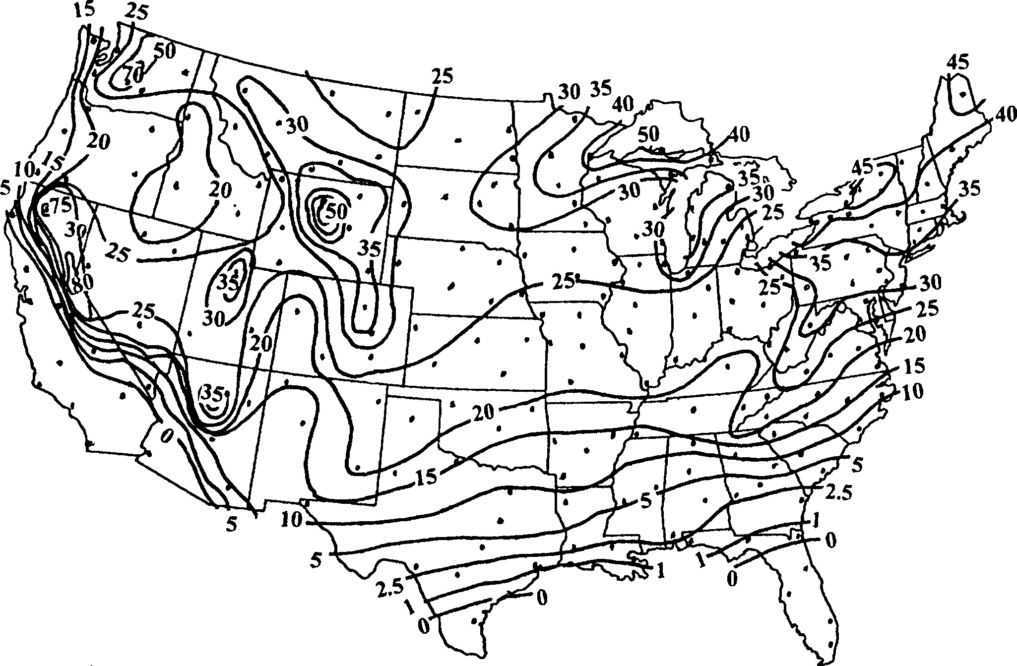 Frequency Distributions Of Heavy Snowfall From Snowstorms In The Cat 3126 Engine Diagram United States Journal Hydrologic Engineering Vol 11 No 5