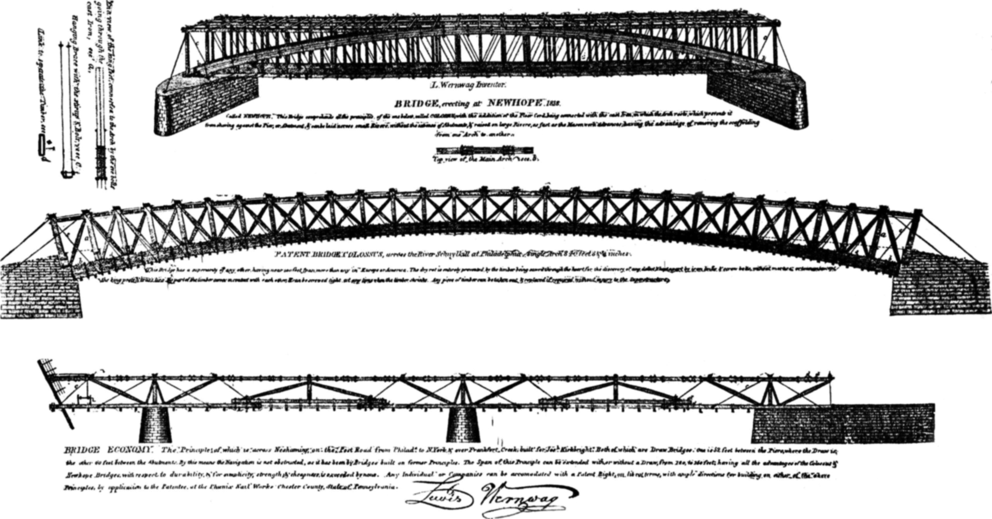 Lewis Wernwag And The Colossus Of 1812 Practice Periodical On Burr Arch Truss Diagram Penn Central Bridge Savage Maryland Structural Design Construction Vol 15 No 3