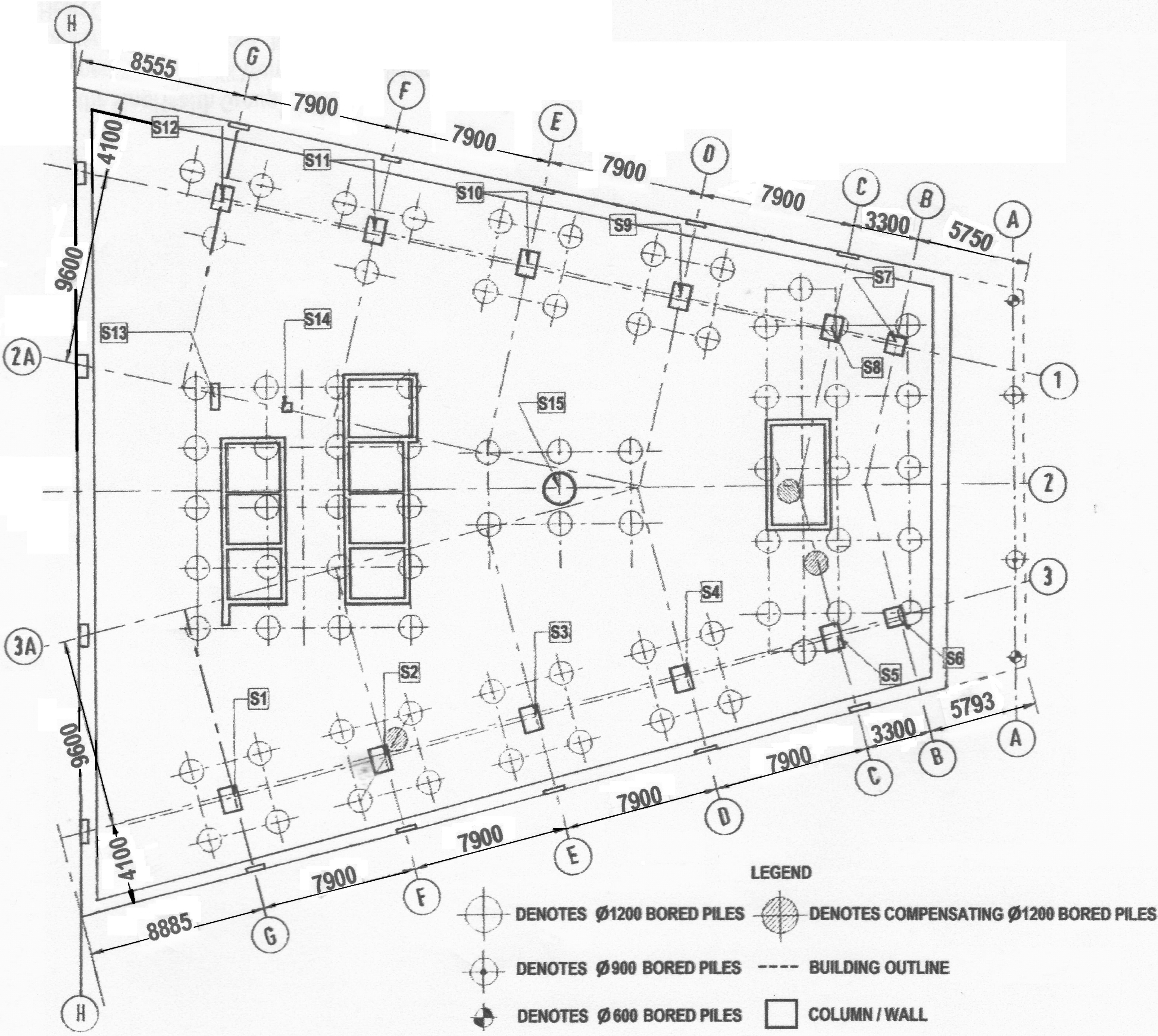 Cost-Saving Compensated-Foundation Design of an Office Building