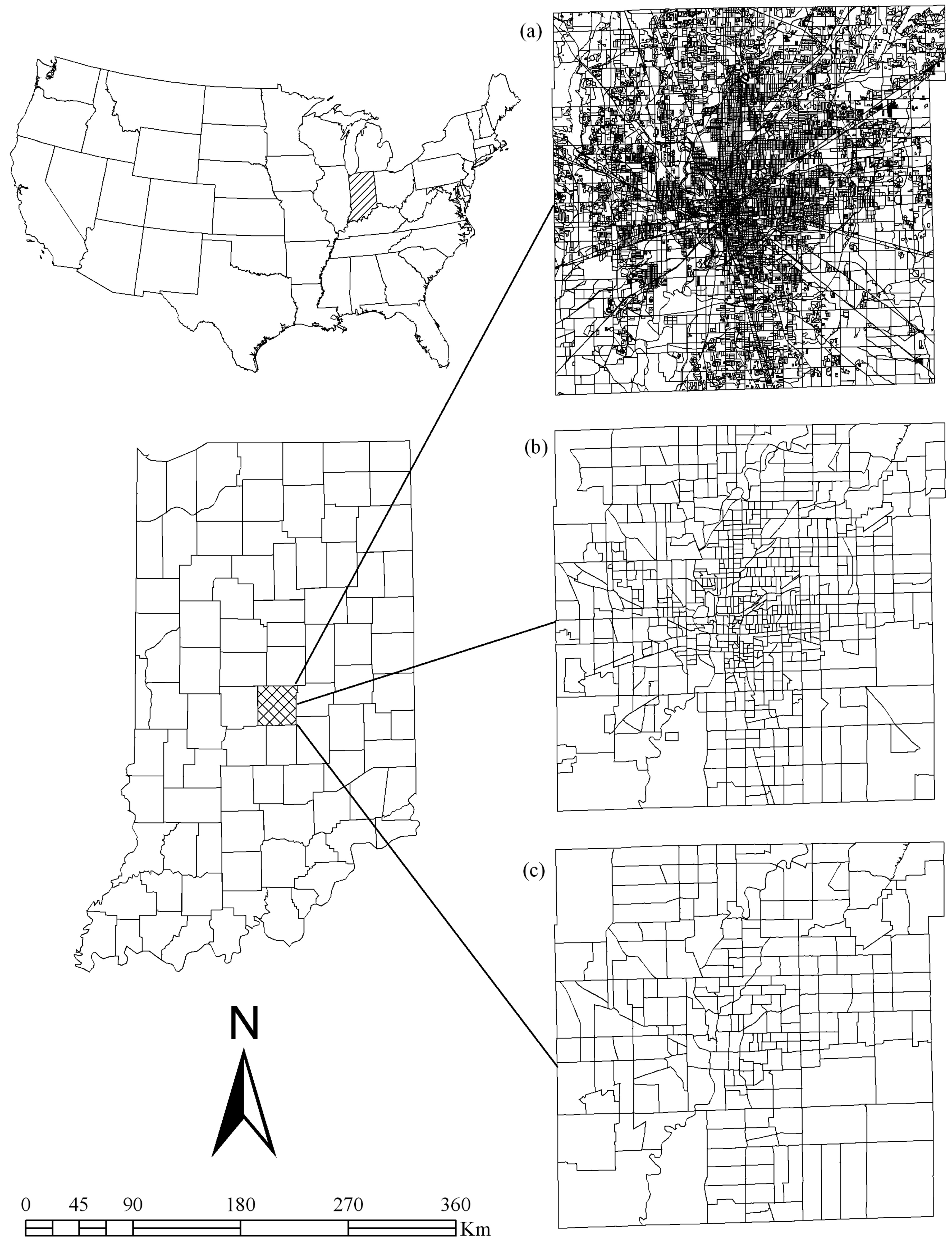 multiscale ysis of census based land surface temperature variations and determinants in indianapolis united states journal of urban planning and