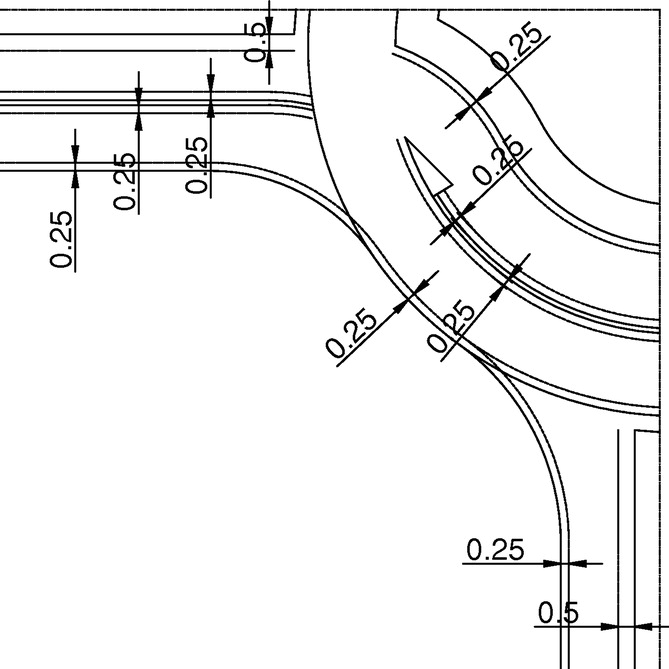 Design Of Turbo Roundabouts Based On The Rules Of Vehicle Movement