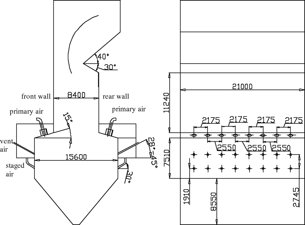 Effect of declination angle of vent air on flow characteristics of effect of declination angle of vent air on flow characteristics of a scale model of a down fired utility boiler with swirl burners journal of energy pooptronica Gallery
