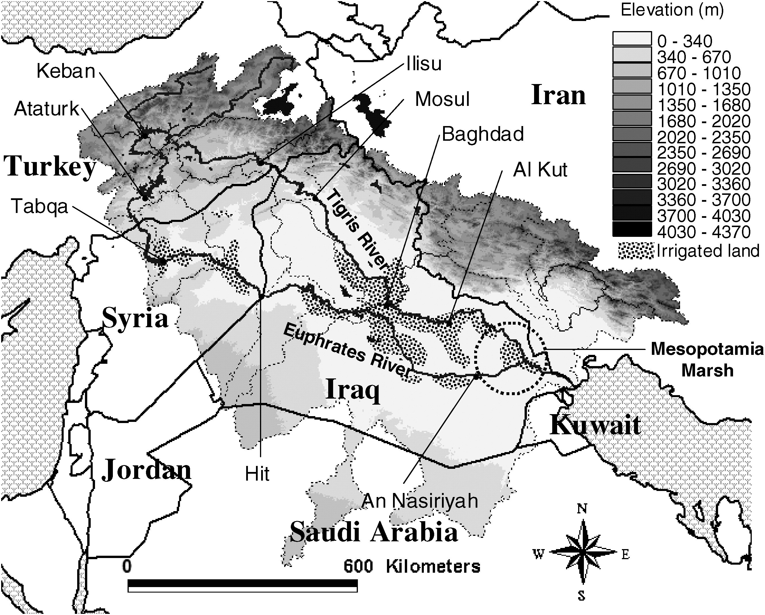 Water Balance Study for the Tigris-Euphrates River Basin