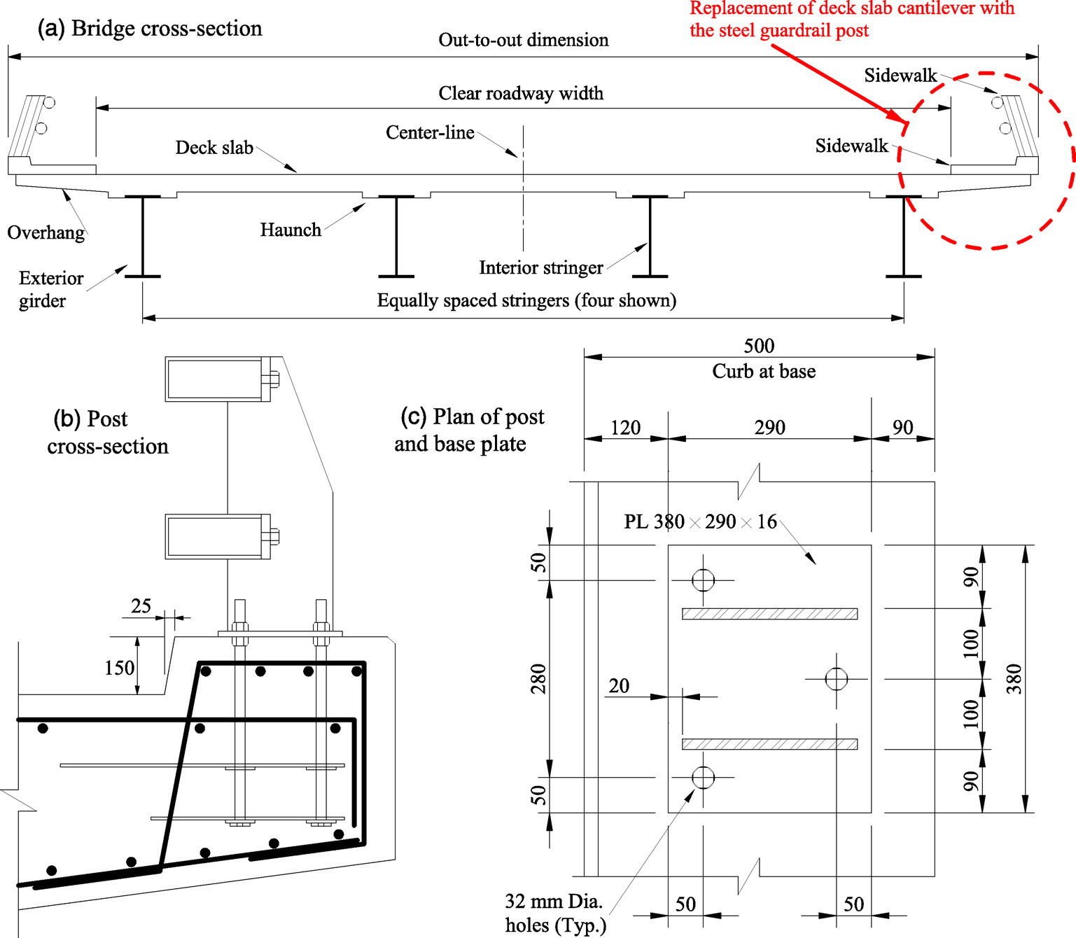 Bridge Deck And Guardrail Anchorage Detailing For Sustainable Cantilever Diagram Registration To Strength The Pdf Construction Journal Of Engineering Vol 19 No 10